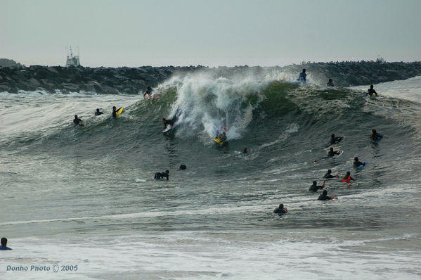 Big bb crowd at the Wedge, CA